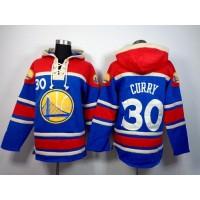 Warriors #30 Stephen Curry Blue Sawyer Hooded Sweatshirt NBA Hoodie
