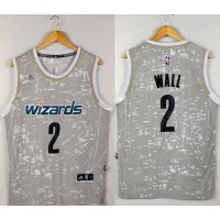 Wizards #2 John Wall Grey City Light Stitched NBA Jersey
