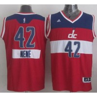 Wizards #42 Nene Red 2014-15 Christmas Day Stitched NBA Jersey