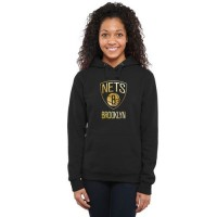 Women's Brooklyn Nets Gold Collection Pullover Hoodie Black