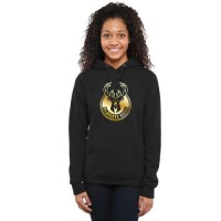 Women's Milwaukee Bucks Gold Collection Pullover Hoodie Black