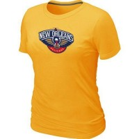 Women's New Orleans Pelicans Big & Tall Primary Logo T-Shirt Yellow