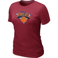 Women's New York Knicks Big & Tall Primary Logo T-Shirt Red