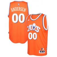 adidas Cleveland Cavaliers #00 Chris Andersen Orange Hardwood Classics Swingman Jersey