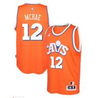 adidas Cleveland Cavaliers #12 Jordan McRae Orange Hardwood Classics Swingman Jersey