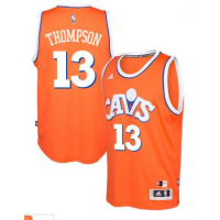 adidas Cleveland Cavaliers #13 Tristan Thompson Orange Hardwood Classics Swingman Jersey