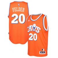 adidas Cleveland Cavaliers #20 Kay Felder Orange Hardwood Classics Swingman Jersey