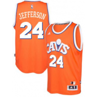 adidas Cleveland Cavaliers #24 Richard Jefferson Orange Hardwood Classics Swingman Jersey