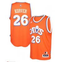 adidas Cleveland Cavaliers #26 Kyle Korver Orange Hardwood Classics Swingman Jersey