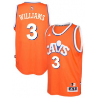adidas Cleveland Cavaliers #3 Derrick Williams Orange Hardwood Classics Swingman Jersey