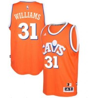 adidas Cleveland Cavaliers #31 Deron Williams Orange Hardwood Classics Swingman Jersey