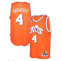 adidas Cleveland Cavaliers #4 Iman Shumpert Orange Hardwood Classics Swingman Jersey