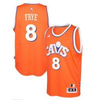 adidas Cleveland Cavaliers #8 Channing Frye Orange Hardwood Classics Swingman Jersey