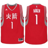 adidas Houston Rockets #1 Trevor Ariza Red Chinese New Year Swingman Jersey