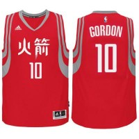 adidas Houston Rockets #10 Eric Gordon Red Chinese New Year Swingman Jersey