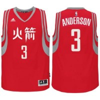 adidas Houston Rockets #3 Ryan Anderson Red Chinese New Year Swingman Jersey