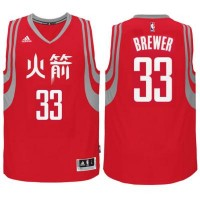 adidas Houston Rockets #33 Corey Brewer Red Chinese New Year Swingman Jersey
