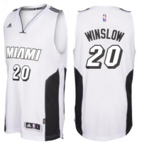 adidas Miami Heat #20 Justise Winslow White Tie Swingman Climacool Jersey