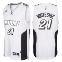 adidas Miami Heat #21 Hassan Whiteside White Tie Swingman Climacool Jersey