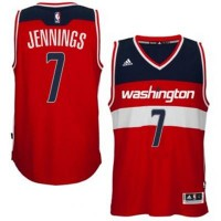 adidas Washington Wizards #7 Brandon Jennings Red Swingman Road Jersey