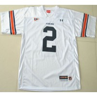 2012 New Tigers #2 Cam Newton White Stitched NCAA Jersey