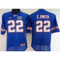 Florida Gators #22 Emmitt Smith Men's Blue Stitched NCAA Jersey