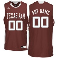 Adidas Texas A&M Aggies Customized  Maroon Basketball Jersey