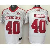 Aggies #40 Von Miller White SEC Patch Stitched NCAA Jersey