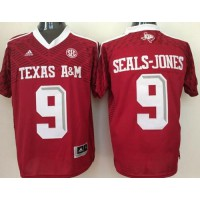 Aggies #9 Ricky Seals-Jones Red New SEC Patch Stitched NCAA Jersey