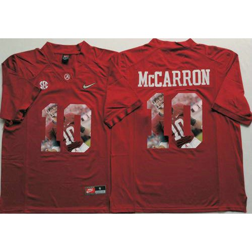 33999d830 Alabama Crimson Tide  10 AJ McCarron Red Player Fashion Stitched NCAA Jersey