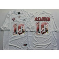 Alabama Crimson Tide #10 AJ McCarron White Player Fashion Stitched NCAA Jersey