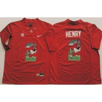 Alabama Crimson Tide #2 Derrick Henry Red Player Fashion Stitched NCAA Jersey