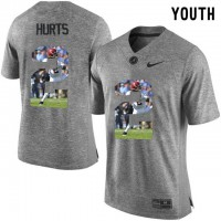Alabama Crimson Tide #2 Derrick Henry Red With Portrait Print Youth College Football Jersey5