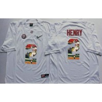 Alabama Crimson Tide #2 Derrick Henry White Player Fashion Stitched NCAA Jersey