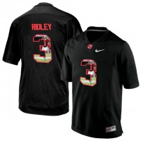 Alabama Crimson Tide #3 Calvin Ridley Black With Portrait Print College Football Jersey5