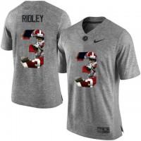 Alabama Crimson Tide #3 Calvin Ridley Gray With Portrait Print College Football Jersey6