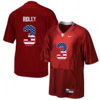 Alabama Crimson Tide #3 Calvin Ridley Red USA Flag College Limited Jersey