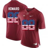Alabama Crimson Tide #88 O.J Howard Red USA Flag College Limited Jersey