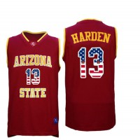 Arizona State Sun Devils #13 James Harden 13 Red College Basketball Jersey