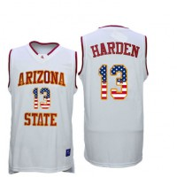Arizona State Sun Devils #13 James Harden 13 White College Basketball Jersey