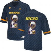 Arizona State Sun Devils #2 Mike Bercovici Black Team Logo Print College Football Jersey12