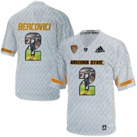 Arizona State Sun Devils #2 Mike Bercovici Ice Team Logo Print College Football Jersey