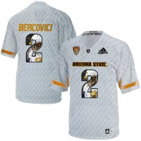 Arizona State Sun Devils #2 Mike Bercovici Ice Team Logo Print College Football Jersey10