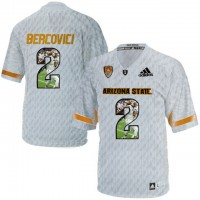 Arizona State Sun Devils #2 Mike Bercovici Ice Team Logo Print College Football Jersey11