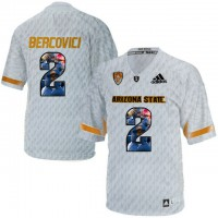 Arizona State Sun Devils #2 Mike Bercovici Ice Team Logo Print College Football Jersey12