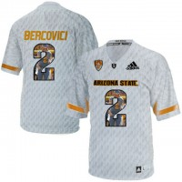 Arizona State Sun Devils #2 Mike Bercovici Ice Team Logo Print College Football Jersey2
