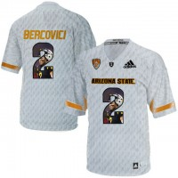 Arizona State Sun Devils #2 Mike Bercovici Ice Team Logo Print College Football Jersey3
