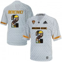 Arizona State Sun Devils #2 Mike Bercovici Ice Team Logo Print College Football Jersey4
