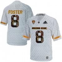 Arizona State Sun Devils #8 D.J. Foster Ice Team Logo Print College Football Jersey11