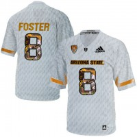 Arizona State Sun Devils #8 D.J. Foster Ice Team Logo Print College Football Jersey6